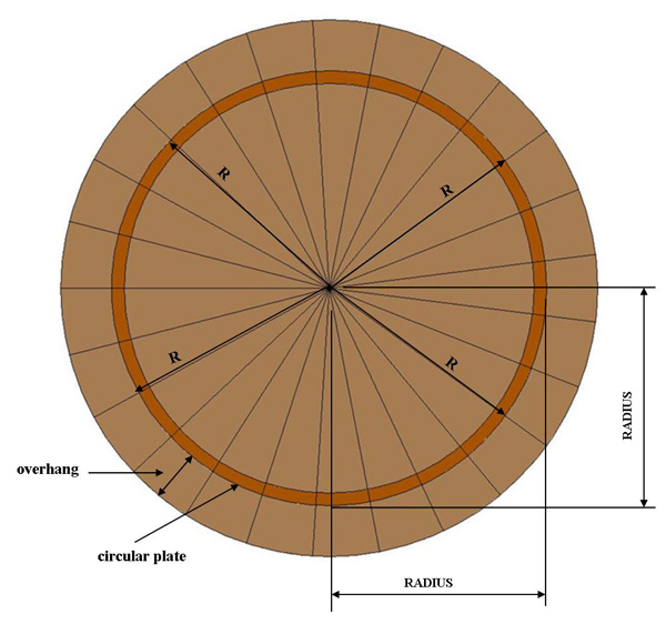Circular Tower Rafter Calculator