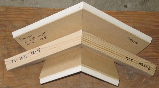 Polygon 2 Cord Interior Rake Gable Crown Molding Miter Angle And